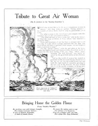 """Johnnie"" You're a Bird! (Unknown, 1930?)  — Tribute to a Great Air Woman (page 1)"