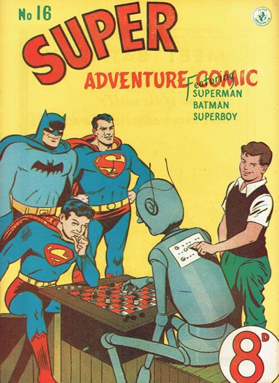Super Adventure Comic (Colour Comics, 1950 series) #16 ([October 1951?])