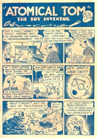 "A Climax Comic (KG Murray, 1947 series)  — ""Atomical Tom"" The Boy Inventor (page 1)"