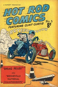 Hot Rod Comics Featuring Clint Curtis (Cleland, 1952? series) #5
