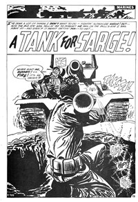 Army at War (Murray, 1982?)  — A Tank for Sarge (page 1)