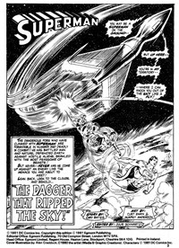 The Super Heroes Monthly (Egmont Publishing, 1980 series) v1#5 — The Dagger that Ripped the Sky! (page 1)