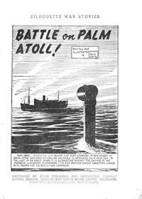Silhouette War Stories Library (Reigate, 1961 series) #8 — Battle on Palm Atoll! (page 1)