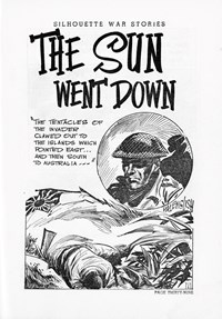 Silhouette War Stories Library (Reigate, 1961 series) #8 — The Sun Went Down (page 1)