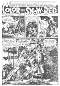 Weird Mystery Tales (KG Murray, 1973? series) #24 — Color the Snow--Red (page 1)