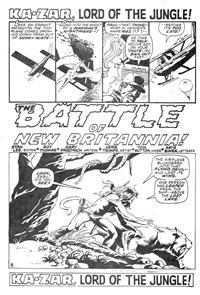 Savage Tales (KG Murray, 1975 series) #11 — The Battle of New Britannia! (page 1)