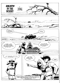 Strange Tales of the Wild West (Gredown/Boraig, 1980?)  — Death in the Desert (page 1)