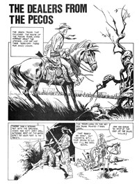 Strange Tales of the Wild West (Gredown/Boraig, 1980?)  — The Dealers from the Pecos (page 1)
