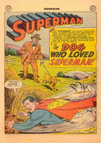 Superman (DC, 1939 series) #88 — The Dog Who Loved Superman (page 1)
