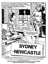 Sydney—Newcastle, Page 1—Teenage Romances (Murray, 1982 series) #1  ([December 1982?])