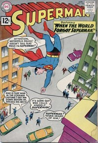 Superman (DC, 1939 series) #150 — When the World Forgot Superman!