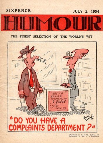 Humour (New Century, 1922 series) v34#27 (2 July 1954)