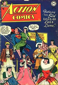 Action Comics (DC, 1938 series) #198 — The Six Lives of Lois Lane!