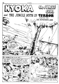Nyoka the Jungle Girl (Cleland, 1949 series) #42 — The Jungle Myth of Terror Chapter Two The Monster's Lair (page 1)