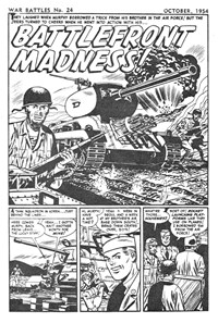 War Battles (Red Circle, 1952 series) #24 — Battlefront Madness! (page 1)