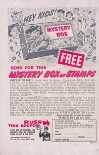 Magic Moment Romances (KG Murray, 1973 series) #102 — Hey Kids! Send for the Mystery Box of Stamps (page 1)