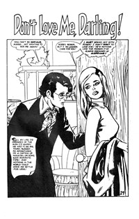 Man and Woman (KG Murray, 1974? series) #23 — Don't Love Me, Darling! (page 1)