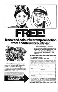 Planet Series 3 (Murray, 1980 series) #5 — Free! A New and Colourful Stamp Collection from 77 Different Countries! (page 1)