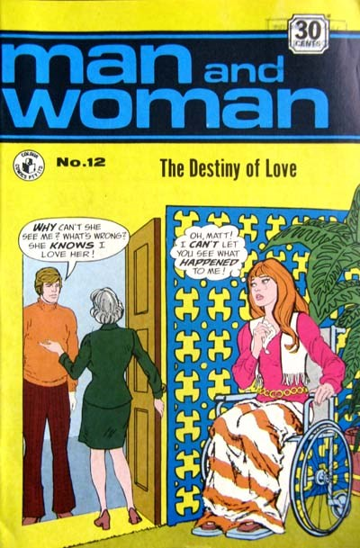 Man and Woman (Colour Comics, 1969? series) #12 ([July 1972?])