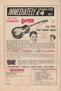 "Giant Superboy Album (Colour Comics, 1965 series) #2 — Immediately Yours for £4 ($8) the Latest ""Starmaker"" Guitar (page 1)"