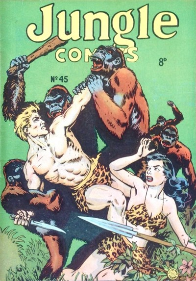 Jungle Comics (HJ Edwards, 1950? series) #45 ([June 1954?])