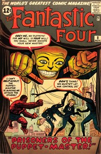 Fantastic Four (Marvel, 1961 series) #8 — Prisoners of the Puppet-Master!