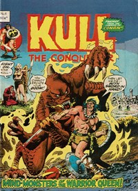 Kull the Conqueror (Yaffa/Page, 1977 series) #4 — Mind-Monsters of the Warrior Queen!