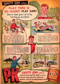 Wrigley's [Safety Sam Says Play Time Is So Short Play Safe!] (1957)