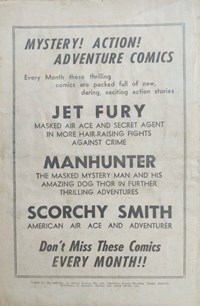 Jet Fury; Manhunter; Scorchy Smith [Mystery! Action! Adventure comics] (1952?)