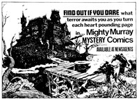Promotion: Find Out if You Dare [Mighty Murray Mystery Comics]