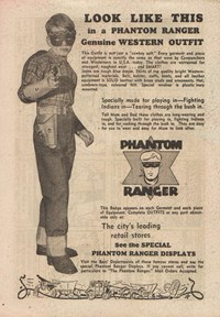 Phantom Ranger Genuine Western Outfit [The city's leading retail stores] (1950)