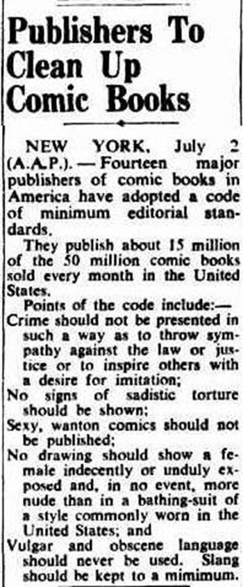 Publishers to Clean Up Comic Books (1950?-1980?)