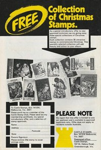 Free Collection of Christmas Stamps [Castle Stamps] (1977?-1978?)