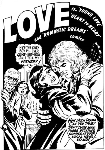 Love is.. 'Young Love' 'Heart to Heart' and 'Romantic Dreams' comics (1975?)