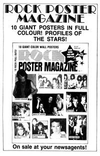 Rock Poster Magazine No. 7 [Black and white] (1985)