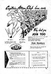 Captain Atom Club Has Over 75,000 Members (1953?-1957?)