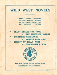 Promotion: Wild West Novelettes [Death Stalks the Trail]