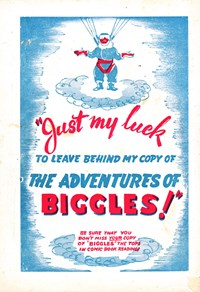 Promotion: The Adventures of Biggles! [Just my luck]