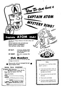 Captain Atom Mystery Ring [Portrait] (1952?)