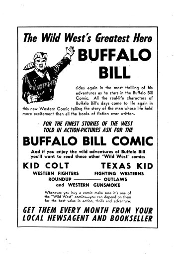 The Wild West's Greatest Hero Buffalo Bill [including Texas Kid] (1952?-1956?)