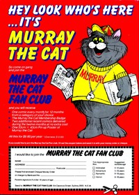 Murray the Cat Fan Club [red] (1982-1983)
