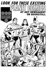 Look for These Exciting Planet Comics [First logo] (1973-1975)