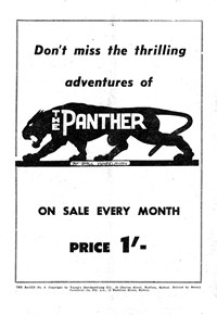 The Panther [Don't miss the thrilling adventures] (1957?)
