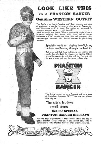 Phantom Ranger Genuine Western Outfit [Leading retail stores] (1951?)